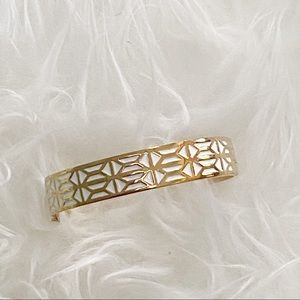 Stella & Dot Breezeblock Enamel Hinge Bangle